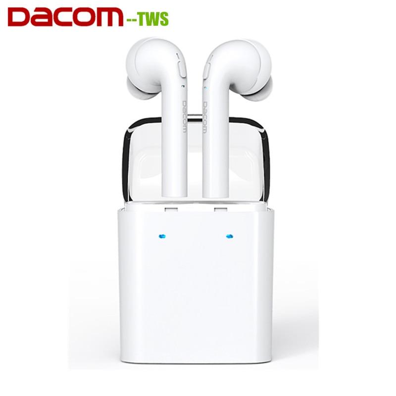 Dacom TWS MINI Doppel ohr Bluetooth 4,2 Headset Wahre Wireless Sport Kopfhörer Mit Lade Box Für Xiaomi Samsung LG-in Handy-Ohrhörer und Kopfhörer Bluetooth aus Verbraucherelektronik bei  Gruppe 1