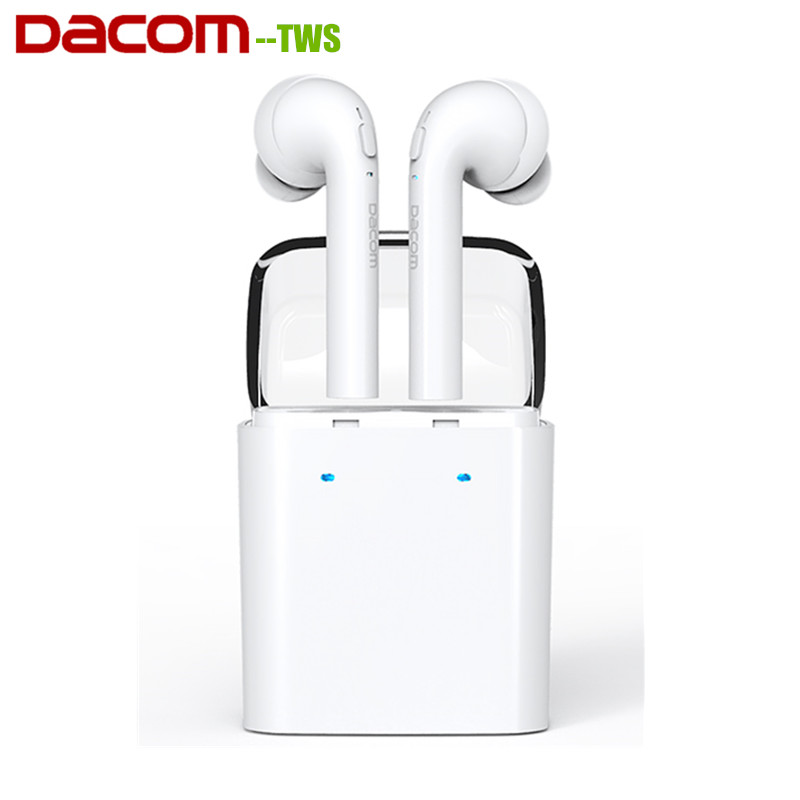 Dacom TWS MINI Double-ear Bluetooth 4.2 Headset True Wireless Sport Earphone With Charging Box For Xiaomi Samsung LG dacom tws 7s true wireless bluetooth headset mini bluetooth 4 2 wireless earpiece earbuds in ear earphone for iphone 7 android