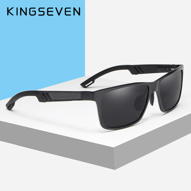KINGSEVEN Brand New Polarized Sunglasses Men Unisex Metal Frame Driving Glasses Women Retro Sun Glasses Gafas