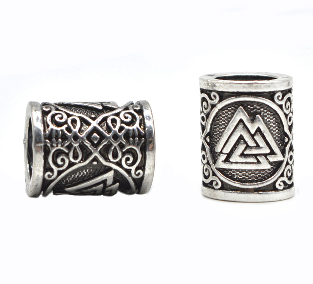 1pc Viking Scandinavian Runes Beads for Bracelets for Pendant Necklace DIY for Beard Hair Beads C49 1pc unique personalized viking thor s hammer beads choker necklace with 5 viking rune beads diy available