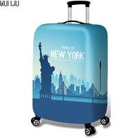 Gepäck-Abdeckung Verdickt Schutzhülle Trolley Fällen Wasserdichte Elastische Koffer Tasche Staub Regen Abdeckungen Traverl zu Peking New York