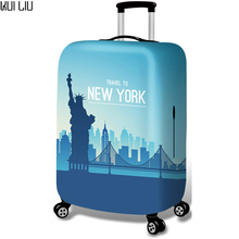Thickened Luggages Protective Cover Trolley Cases Waterproof Elastic Suitcases Bag Dust Rain Covers Traverl to Beijing New York