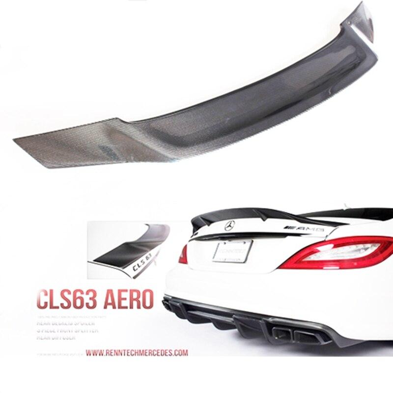 Pour Mercedes CLS Classe W218 Aileron Arrière En Fiber de Carbone Tronc Spoiler Aile R Style 2011 2012 2013 2014 2015 2016