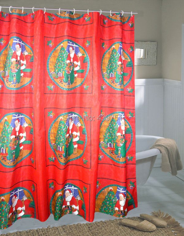 Popular Christmas Shower Curtain-Buy Cheap Christmas Shower ...