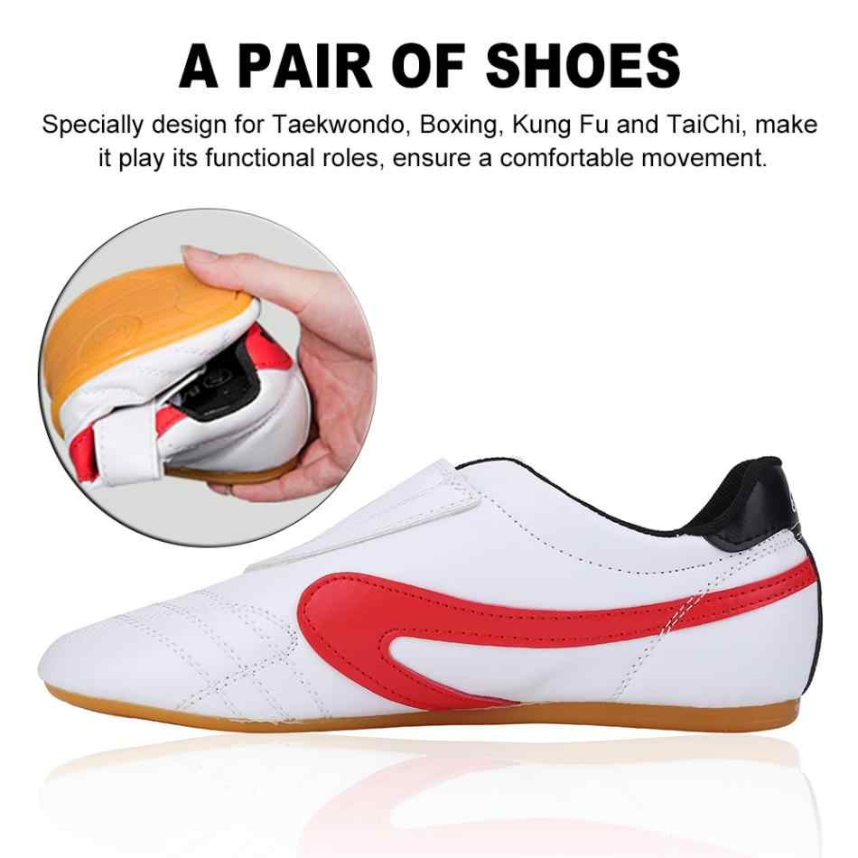أحذية التايكوندو القابلة للتنفس أحذية الكاراتيه الكونغ فو المصارعة فنون الدفاع عن النفس أحذية النساء الرجال البالغين والأطفال أحذية أكسفورد الناعمة