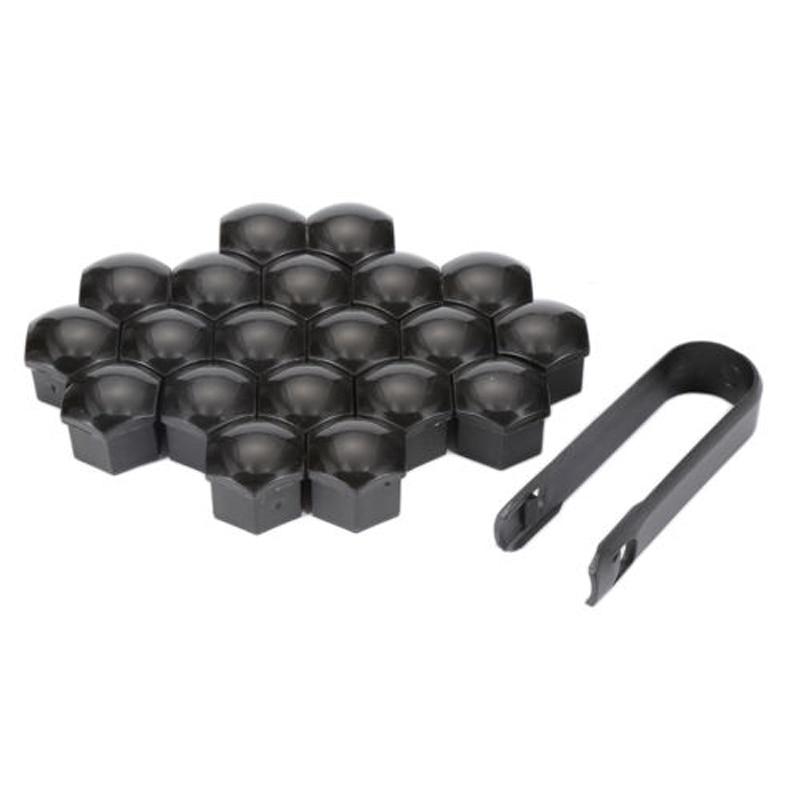 Schwarz Auto Rad Lug Bolt Mutter Deckt Kappe Protector Entfernung Werkzeuge Liefert Kunststoff