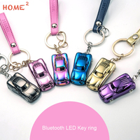 Creative Gift Bluetooth Positioning Keychain With LED Light Keyring For BMW Abarth Opel MG VW Honda