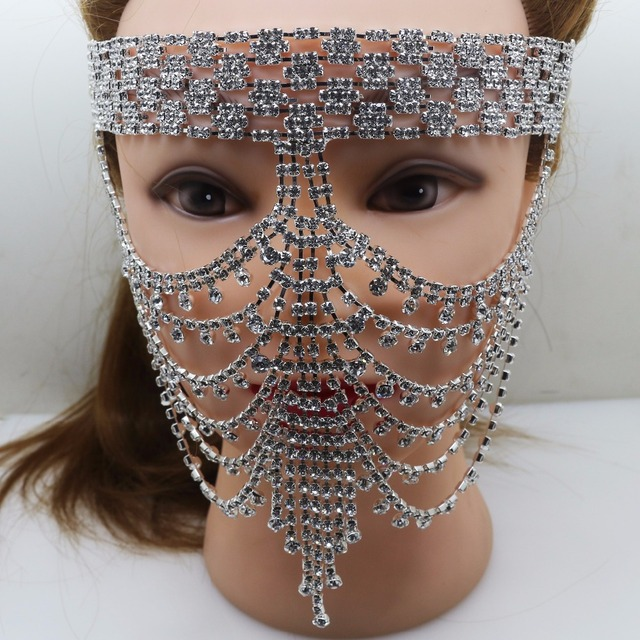 Free Shipping Fancy Rhinestone Mask for Party Masquerade Party Masks Crystal Christmas Party Mask Supply.