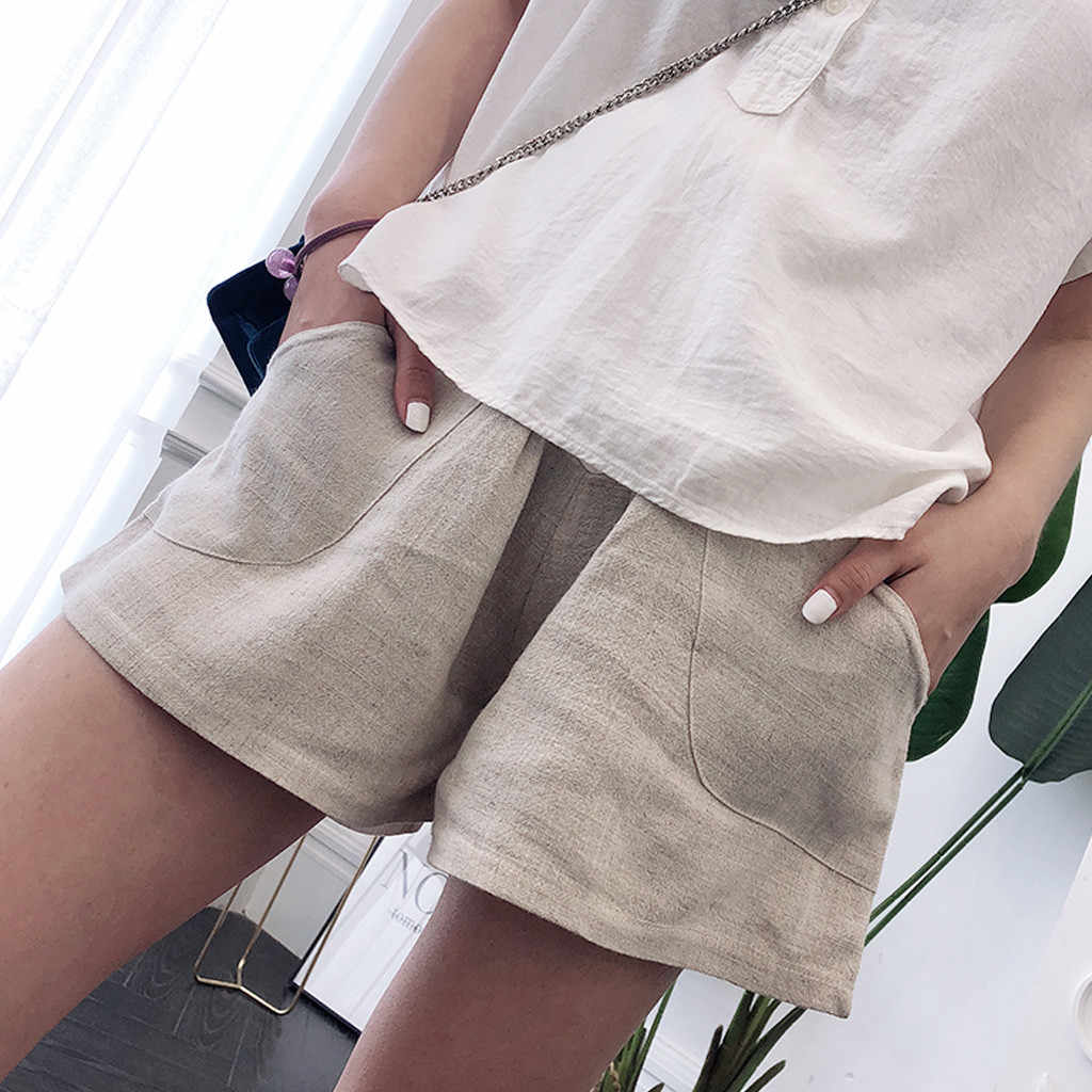 SAGACE Casual 2019 Summer Hot Sell Beach Shorts For Women Maternity Pregnant Solid Casual Female Short Ladies Pregnant