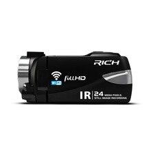 RICO Quente Câmera de Vídeo Digital HD 1080 p Infravermelho Night Vision Camera WIFI Sem Fio Microfone Da Câmara de Vídeo DVR De Controle Remoto