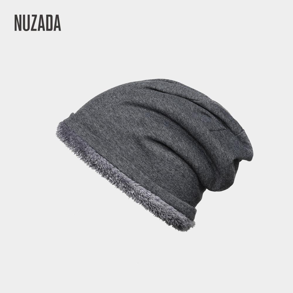 2c23aaa884 NUZADA Plus Velvet Thickening Lady Men Women Winter Hat Internal Plush  Skullies Beanies Cap Knitted Caps