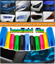 Free Shipping 13 All Colors 30cm x200cm Auto Car Light Headlight Taillight Tint Vinyl Film Sticker 2013 New Hot