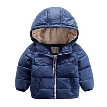 Ребенка зимой с 2016 новый зимний хлопок кашемир капюшоном пальто цвета дети теплый хлопок утолщенной мальчик