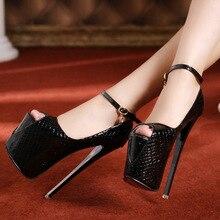 2016 New Fashion Sexy Women Pumps Platform High Heels fish mouth shoes pole dancing shoes waterproof 19 cm club women shoes