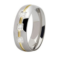 18k Gold Plated Custom Alliance Stainless Steel Wedding Bands Couples Rings For Him And Her Anillos