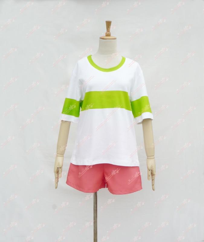 Esprit loin Sen à Chihiro no Kamikakushi Chihiro Ogino vêtement quotidien d'été style t-shirt Costume Cosplay