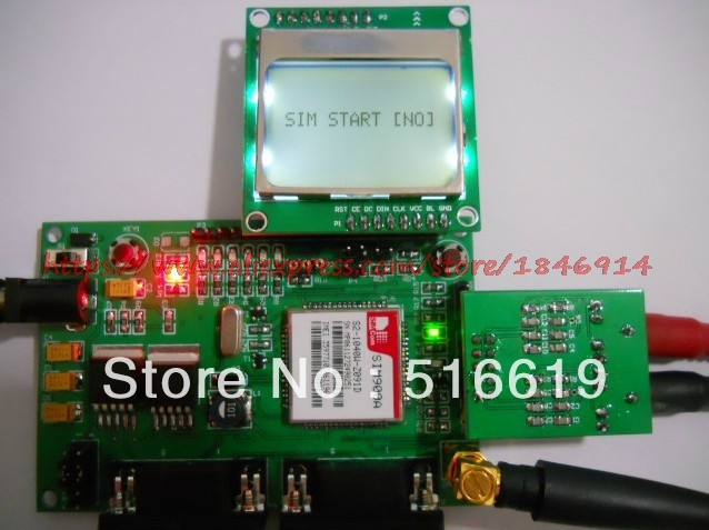 STM32 SIM900 GSM+GPRS+ Base + MMS DTU MCU Development Board Passthrough Super SIM300