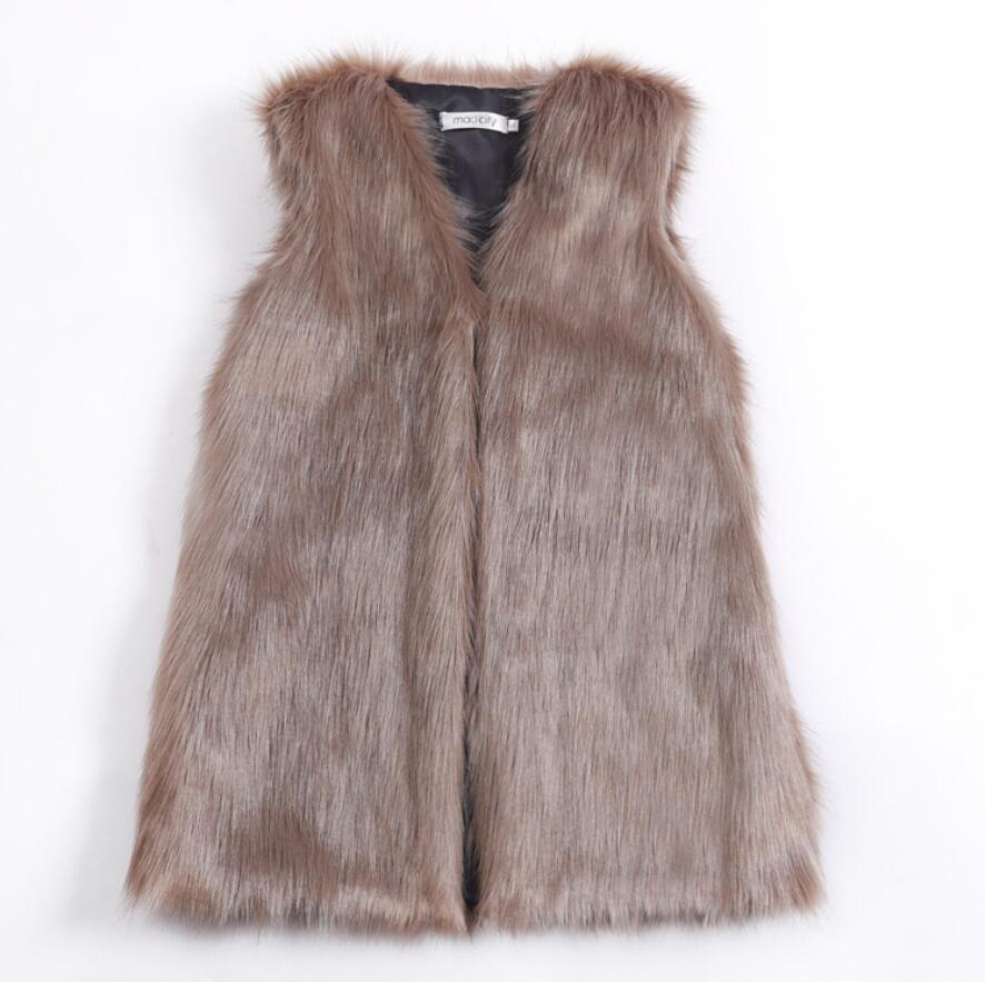 Высокое качество, зимний корейский искусственный Лисий мех, женский модный Повседневный жилет без рукавов, пальто с карманами из искусстве