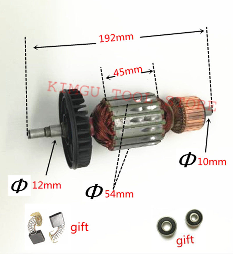AC220-240V Armature Rotor Carbon Brush For Replacement  MAKITA 9067 9067S 9069 9069S 9069X 9067F 9069F Anchor MotorAngle Grinder