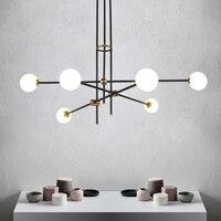 מולקולות כדור זכוכית תליון מנורת מחקר חדר אורחים פוסט מודרני פשוט קסם אמריקאי שעועית ארוך צנרת תליון אור