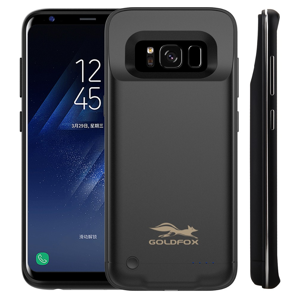 Charger Case For Samsung Galaxy S8 Power Bank Case Ultra Slim External Backup Battery Charging Case Cover high quality