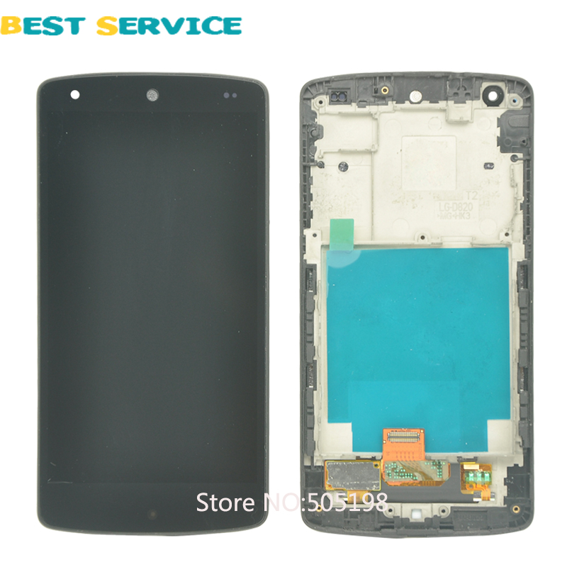 5Pcs/Lots Black For LG D820 D821 LCD Display and Touch Screen Digitizer with Matte Frame Assembly Free Shipping 10pcs lots for lg d820 d821 lcd screen display touch screen digitizer with frame assembly black free shipping
