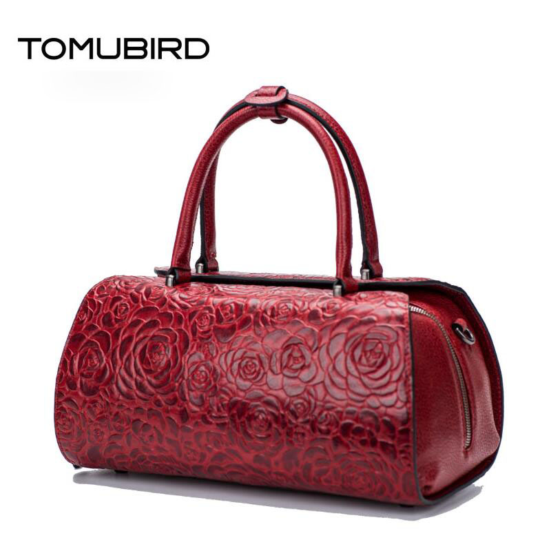 TOMUBIRD new superior genuine leather designer famous brand women bags fashion Embossed rose Real leather Luxury handbags tomubird new original hand embossed superior leather designer bag famous brand women bags genuine leather handbags shoulder