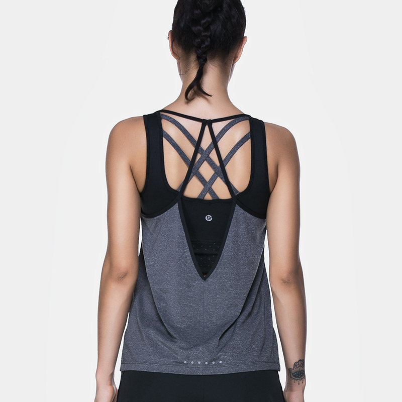 BESGO Females Outdoor Vest Cross Strap Backless Quick Dry Yoga Sleeveless Shirt Workout Running Gym Fitness Sports Underwear