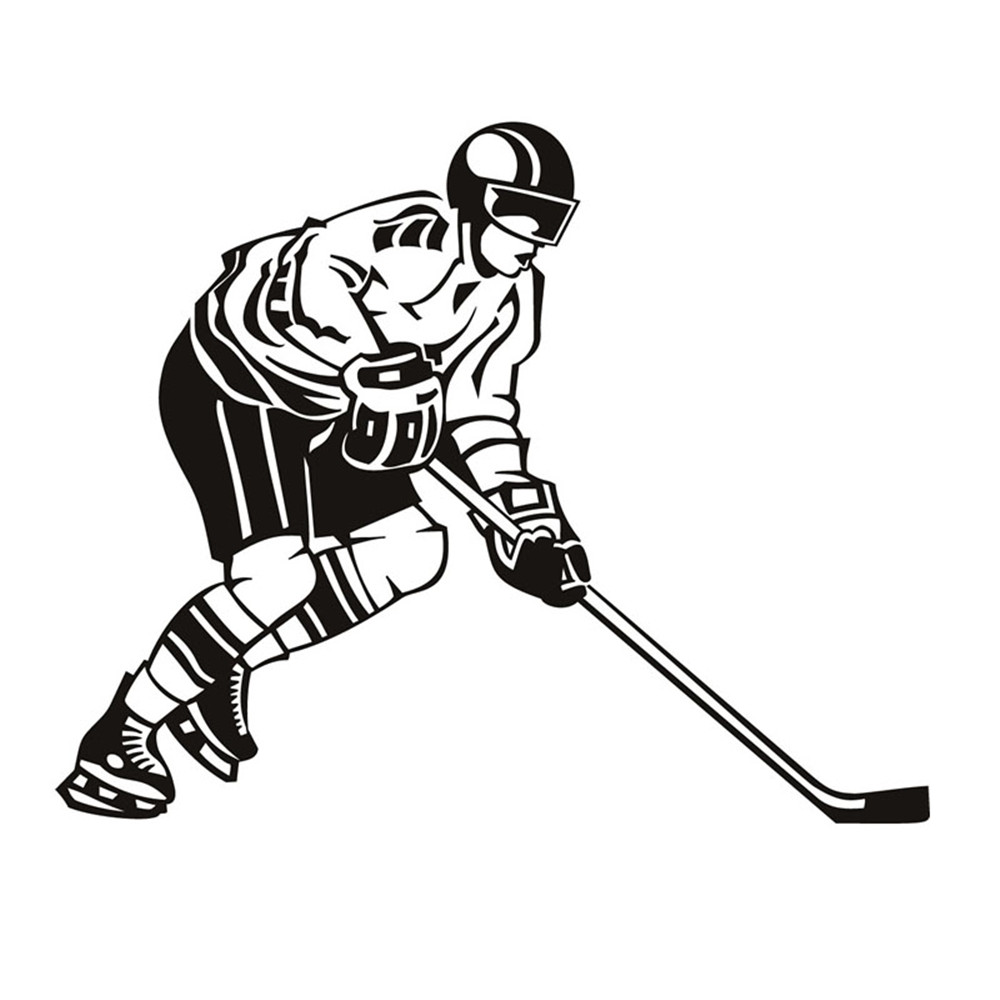 Ice Hockey Player Wall Decal Vinyl Removable Sport Home