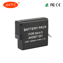 JHTC 1pc 1250mAh AHDBT-501 AHDBT601/501 Gopro 6 battery Gopro hero 5 batteries for Go Pro 5 gopro hero 6 camera AHDBT 501
