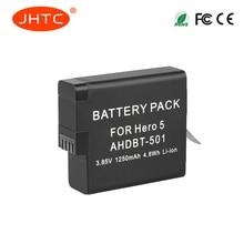 JHTC 1pc 1250mAh AHDBT-501 AHDBT601/501 Gopro 6 battery Gopro hero 5 batteries for Go Pro 5 gopro hero 6 camera AHDBT 501