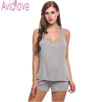 Avidlove Women Short Casual Pajamas Tank And Camisole Cami Set New Spring And Summer Home Furnishing