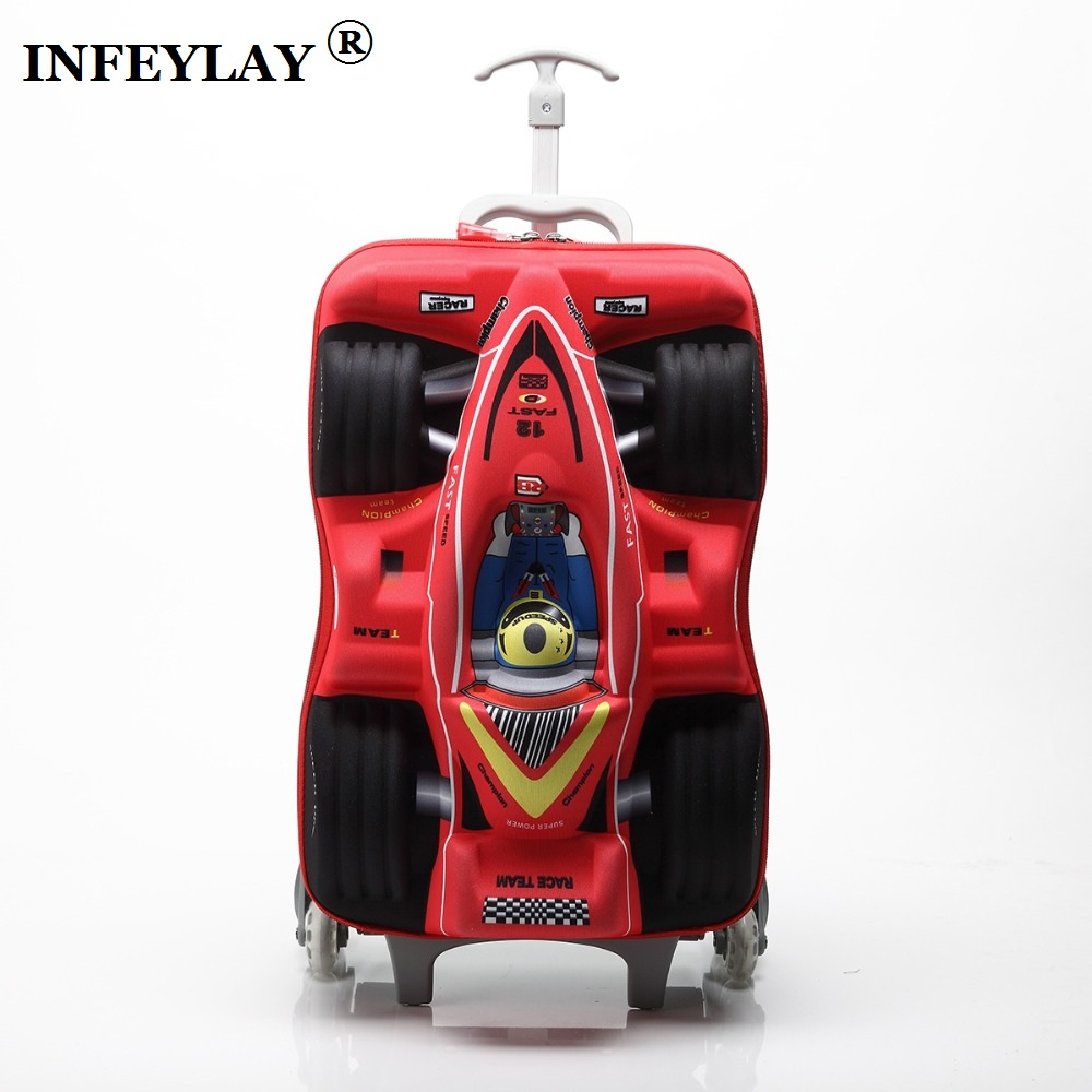 Hot 16 Quot Cars 3d Extrusion Eva Trolley Case Boy Kids Cool