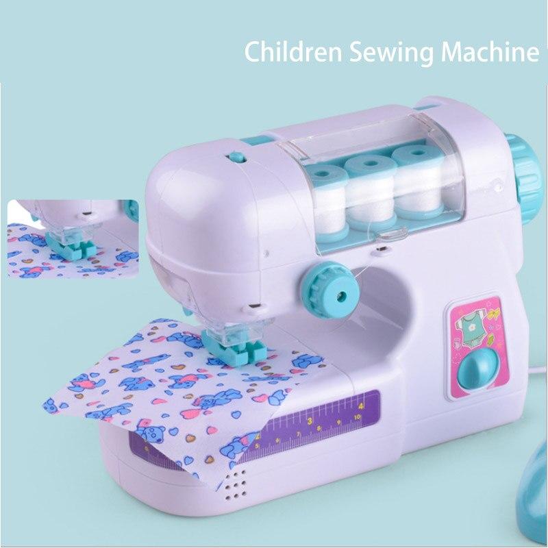 Новая распродажа притворяться, играть в игрушки Моделирование игрушка швейная машина электрические швейные машины игрушки с легким Ведени...