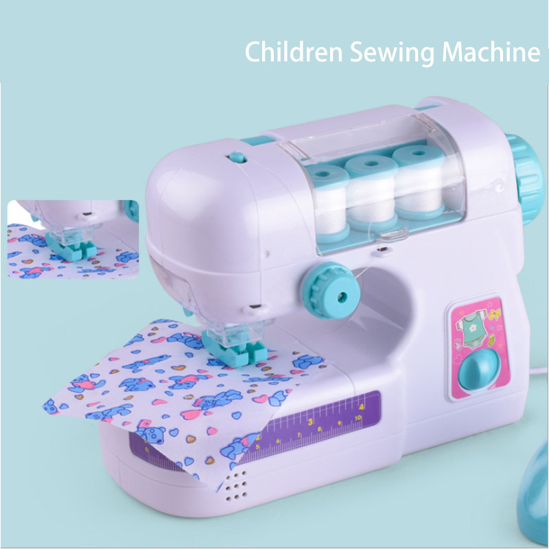 New Sale Pretend Play Toy Simulation Toy Sewing Machine Electric Sewing Machine Toy With Light Housekeeping Gril Birthday Gift
