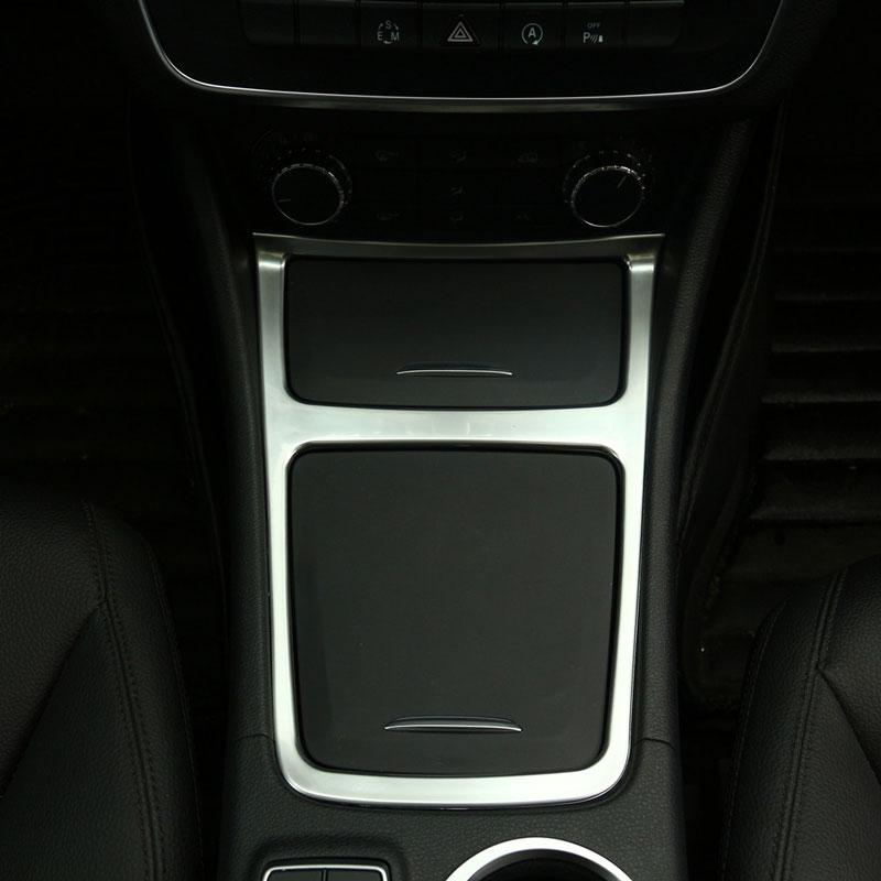 Chrome Center Console Boîte De Rangement Cadre Panneau Trim Fit pour Mercedes Benz A180 GLA 200 CLA 220 2013-2017 car Styling