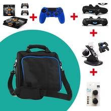 PS4 nagyméretű táska utazótáska hordtáska fedél védő válltáska Sony Playstation 4 PS4 tok konzolhoz