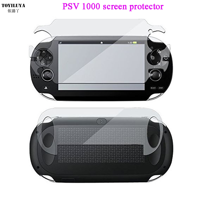 Front+Back HD Clear Screen Protective Film Surface Guard Cover For Psvita PS Vita PSV 1000 LCD Screen Protector rinco protective pet clear front back guard film protector for iphone 5