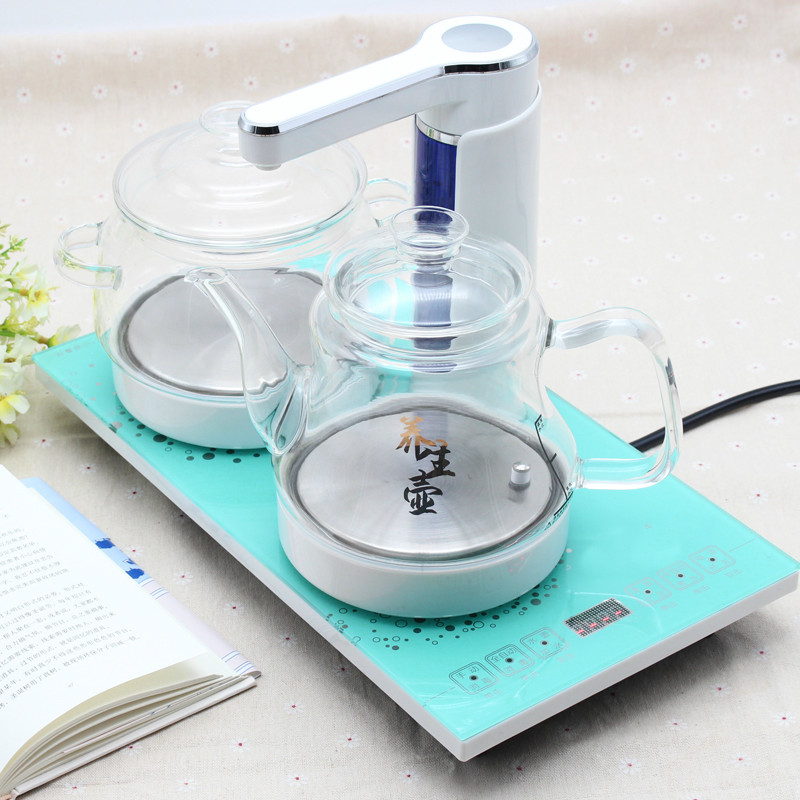 Electric kettle Automatic upper water electric set glass raised pot boiling tea ware Overheat Protection automatic water electric kettle boiler boiling tea heater