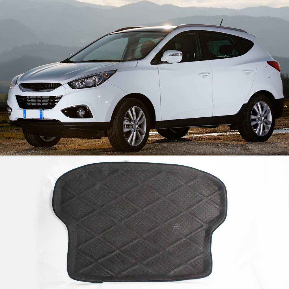 Rubber floor mats kia sorento - 3d Black Rear Trunk Cargo Mat Boot Liner Suitable Rubber Floor Protector Trunk Tray Mat Anti