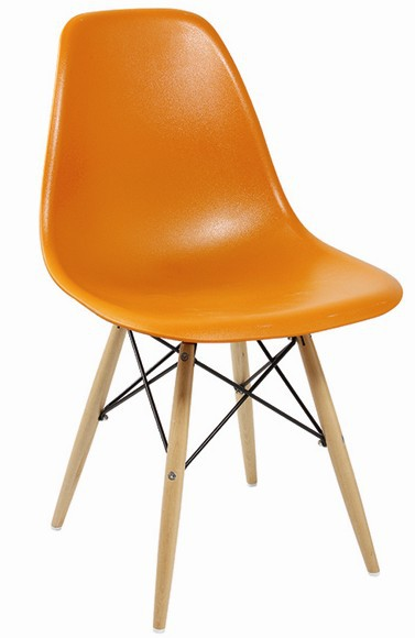 Fashional Plastic Chair With Beech Wood Legs, Available In Different Colors  And Material, Ideal