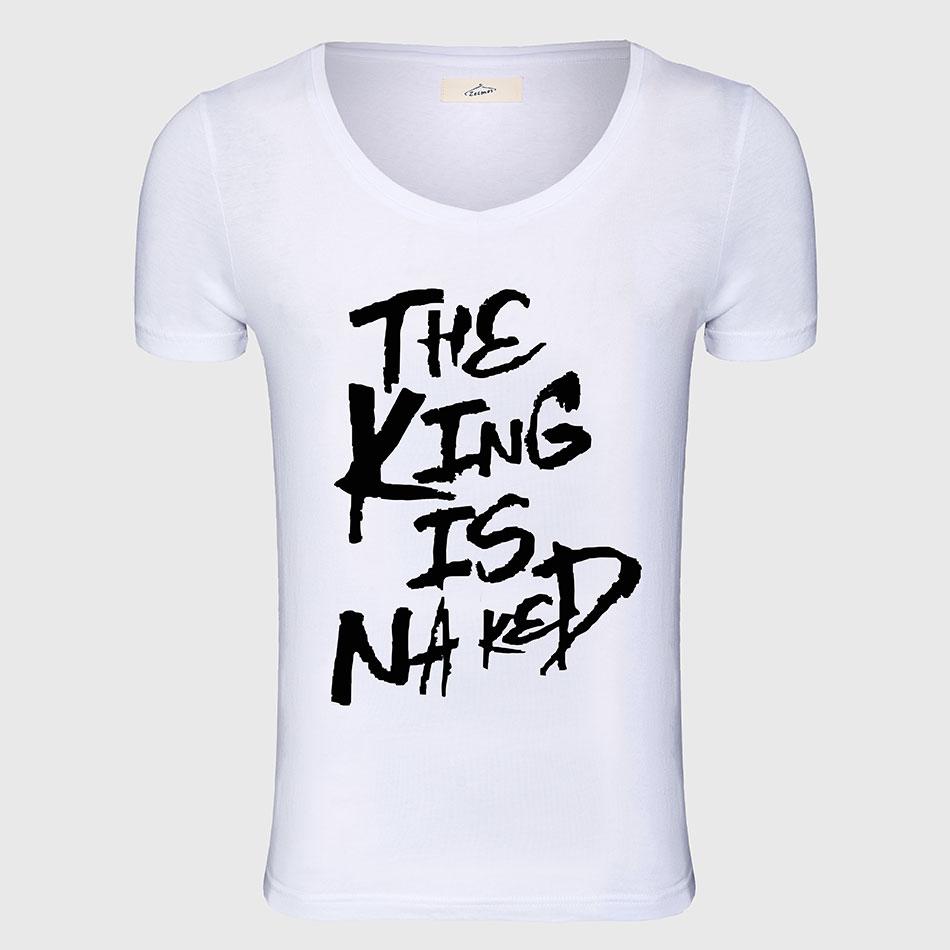 Camiseta de impresión de la novedad Hombres camiseta impresa Hombres Tops Moda masculina Camisetas top Rock Hip Hop