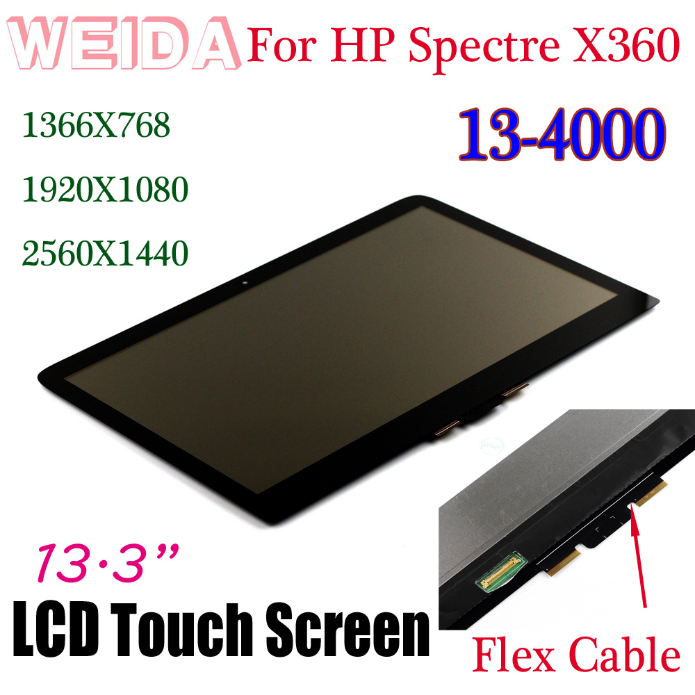 WEIDA LCD Touch Replacement For HP Spectre X360 13-4000 1920X1080 /1366X768 /2560X1440 LCD Display Assembly 13.3