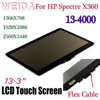 WEIDA LCD Touch Replacement For HP Spectre X360 13 4000 1920X1080 /1366X768 /2560X1440 LCD Display Assembly 13.3