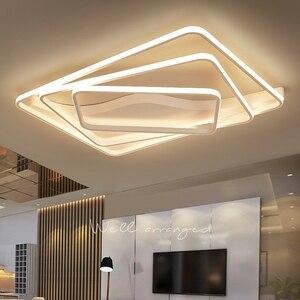 Image 1 - Moderne led Kronleuchter für wohnzimmer Schlafzimmer Aluminium Welle Rechteck kreis lustre Kronleuchter Lightin hohe decke Chandelers