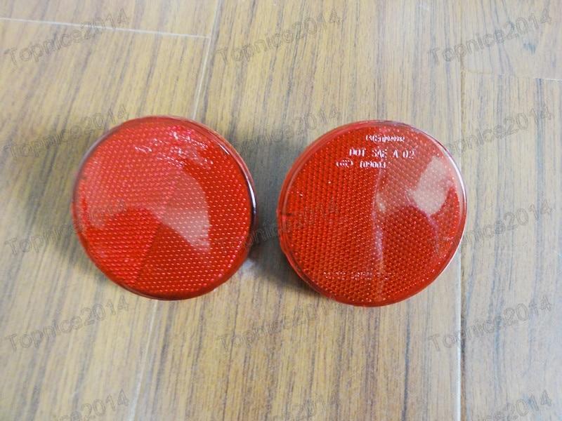 2 قطع الأحمر عدسة المصد الخلفي عاكس - أضواء السيارة