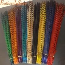 100 шт./лот, красивые натуральные перья фазана на шею, 20-22 дюйма, 50-55 см, длинные черные перья фазана
