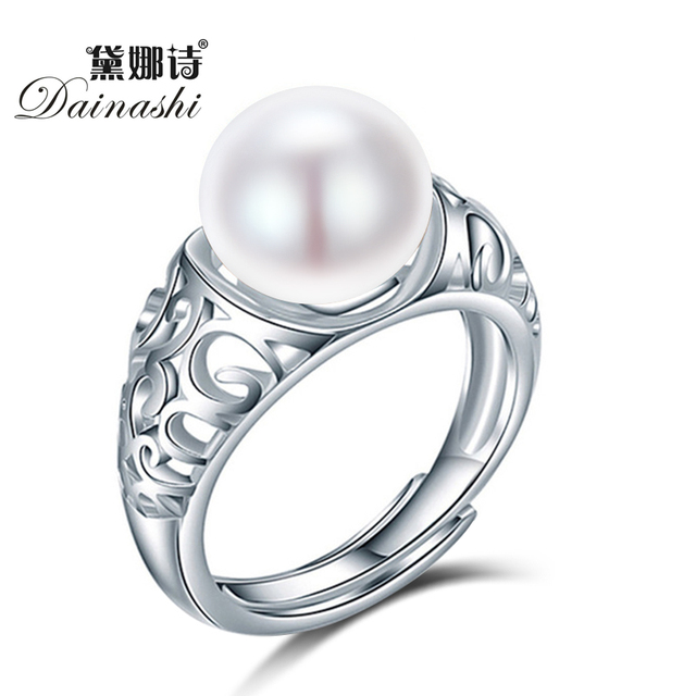 Dainashi top quality luxury brand 925 sterling silver natural freshwater pearl a