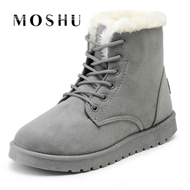New Warm Winter Boots For Women Ankle Boots Snow Girls Boots Female Shoes Suede with Plush Insole Botas Mujer new winter autumn brand luxury women shoes flats suede leather warm snow casual zapatillas mujer plush timber shoes for lady