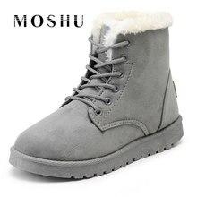 Новые теплые зимние ботинки для женские ботильоны Водонепроницаемые зимние сапоги для девочек Женская обувь из замши с плюшевой стелькой botas mujer